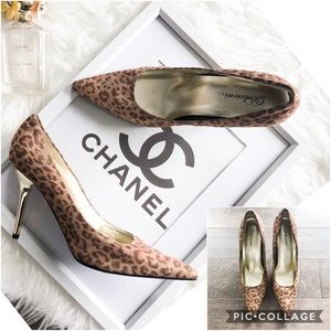 Delicious Leopard Gold Heels